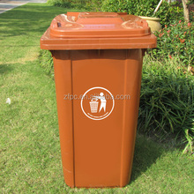 plastic dustbin/ plastic garbage bin /dustbin with wheels and cover for 240 Litre