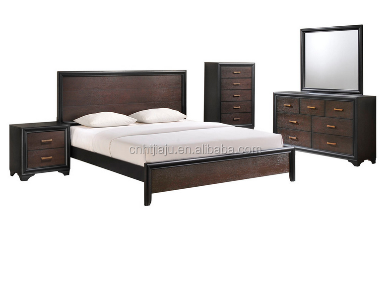 5 piece kind walnut bedroom wood furniture sets china for Affordable quality bedroom furniture