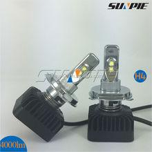 40w 4000lm DC 12V~24V 6000~6500K Car H4 Headlight for all cars