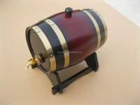 Europe style and bar Industrial use wooden wine barrel 5L