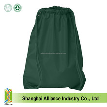 Top Quality Jute Drawstring Bag With Front Zipper Pocket