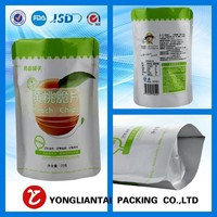 custom laminated food packaging plastic bags with window for tofu