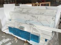 White marble aluminium honeycomb composite panel