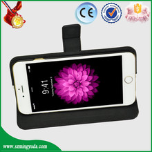 Very popular in USA market black flip Anti-radiation PU leather cell phone case for iphone 6 plus