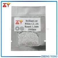 White Cubic zirconia AAA/Factory price white round CZ/High quality zirconia stone