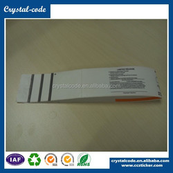 Various colors recycled matte/ glossy lamination non-toxic pp direct thermal label for packaging