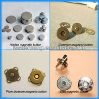 luggage parts Leather rivet and studs neodymium Magnet button with strength magnet