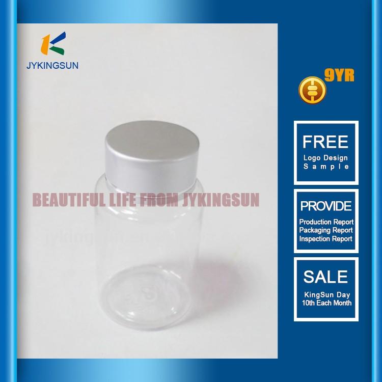 250 ml vazio garrafas de plástico transparente para a cápsula e comprimido