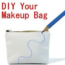 Hot Sold DIY Makeup Bag Canvas Makeup Bag Draw Pictures Yourself DIY Cosmetic Bag