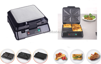 Non-stick Coating Baking Plate Detachable Contact Grill 3 In 1 Set With 4 Slice Waffle Maker , 4Slice Sandwich Maker Plates