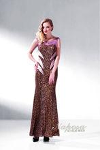 Moda mulheres maduras lantejoulas de ouro vestido longo para sexy ver através de vestido de noite vestidos de baile