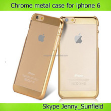 Mobile phone case Chrome clear metal case for iphone 6 plus , for iphone 6 plus covers, for iphone 6 case clear