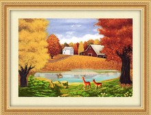 2015 NEW PRODUCT FRAMED OIL PAINTING FOR LIVING ROOM