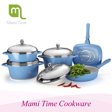 Large new pot die casting sauce pan with grill pan cookware sets