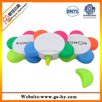 promotional plastic 5 color highlighter