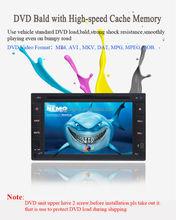 Tela de toque Digital Car rádio CD DVD GPS Bluetooth AM / FM agenda RDS AUX carro duplo Din DVD GPS controle de volante USB / SD
