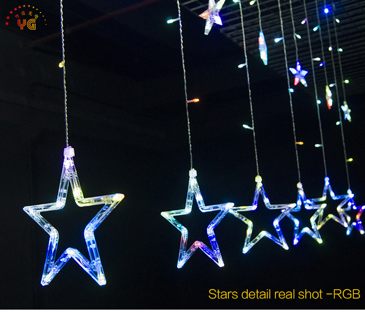 Christmas Star Lights Outdoor Best Outdoor Street Decorative Rgb Led Icicle Star Lights Led Decoration