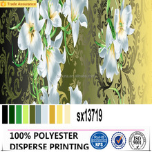 China textile latest design 100% polyester digital sublimation printing fabric