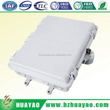 Outdoor/Indoor fiber optic 16 core ftth box for use with splitter