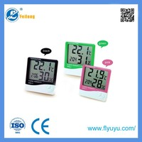 Temperature Thermometer Humidity Meter Clock With Calendar and Timer