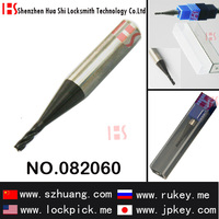 Locksmith tool 4 twist tubular key cutter with 2.0mm blade diameter for A5 NC flat/vertical key cutting machine/ 082060