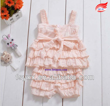 Casual matching top & lace pants baby girls clothing set