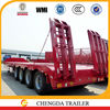 China factory heavy duty 4 axle 80ton truck trailer lowboy for export