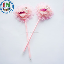 Advertisement promotion ball pen , Lovely shap feather ball pen with plush heart