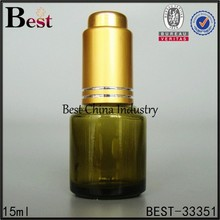 colored essential oil bottles green, gold dropper bottle thumb press, silk printing service