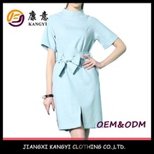 light sky blue polyester latest formal dress patterns for girls
