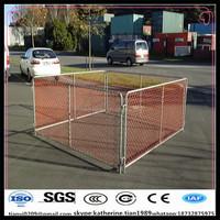 power coating interlocking Temporary Barrier chain link fence barricade