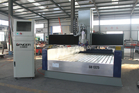 Newest design Gangercnc cnc 3d stone engraving machine 1325 SH-1325S ATC for stone,wood with dust cover