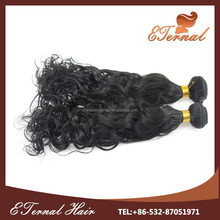 18'' Tangle Free Natural Wave Brazilian Hair Weft with drop shipping