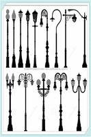 Cast iron street light pole lighting lamps garden light many design