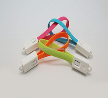 2015 New Fashion 22cm Micro USB Data Transmiss Sync Charge Bracelet Cable for iphone 6/iphone 5