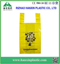4 Color Print Shopping Market Bags / HDPE Recyclable Plastic Bag / Vest Carrier Bags