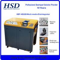 multi-media disintegrator shredding data/hard drive/cd/dvd/u flash