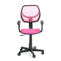 Pink Office/Computer Chair with arms with fabric pads(stocked at Los Angeles)