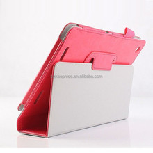 Tablet pc PU leather smart cover case with pen slot for Acer A1-830