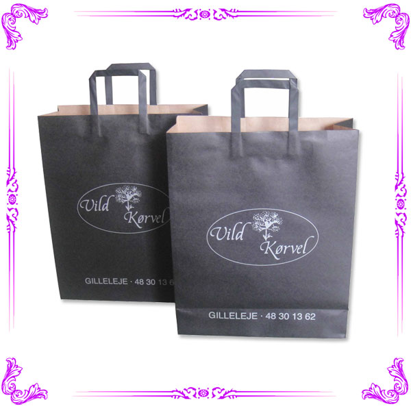 Wholesale luxury paper shopping bag & decorative paper bags & black paper bag