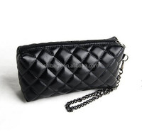 Black Quilted Cosmetic Clutch Makeup Purse Bag, bags woman