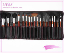 China brush factory 18pcs red wooden make up brushes cosmetic brush