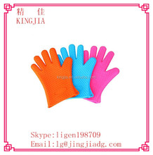 Silicone Heat Resistant Grilling BBQ Gloves for Cooking, Baking, Smoking & Potholder
