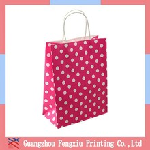 Customized Pink Stripes Printable Christmas Paper Gift Bag