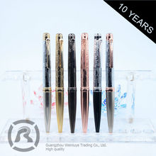Retail Gold Stamp Customized Oem Roller Ball Metal Pen Supplier In Yiwu For Man