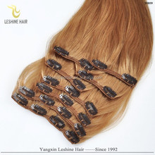 New Design Top Grade 8A Unprocessed No Tangle No Shed brazilian hair clip in colour 1b