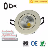 CE ROHS standard 3w round cut out 60mm dimmable cob recessed downlight led