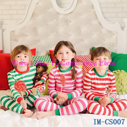 Wholesale Girls Boutique Clothing Sets Newst Kids Christmas Pajamas Outfit IM-CS007