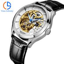 2015 Wholesale fashion design automatic mechanical skeleton watch