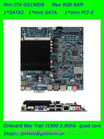 Made in china MINI ITX industrial SBC with quad core J1900